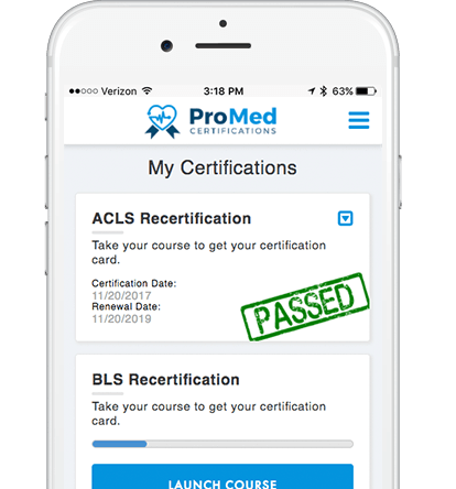 ACLS Recertification On Iphone