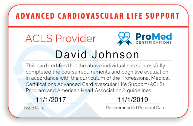 ProMed Certifications Provider Card Preview